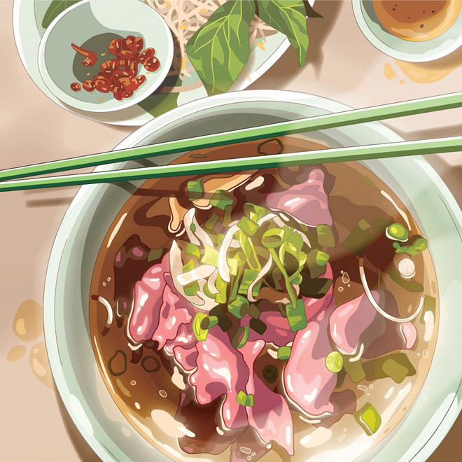 banh my and pho sources of inspiration for autralians virtual art project