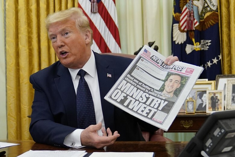 world news today trump signs executive order attempting to control social media