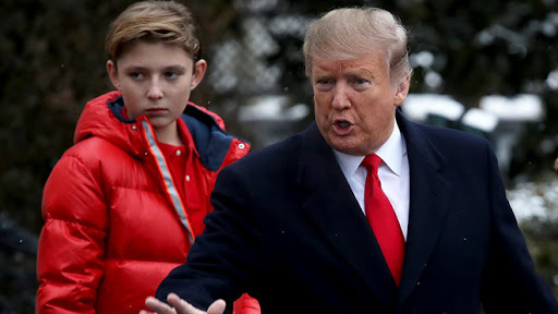 who is barron trump youngest son of us president