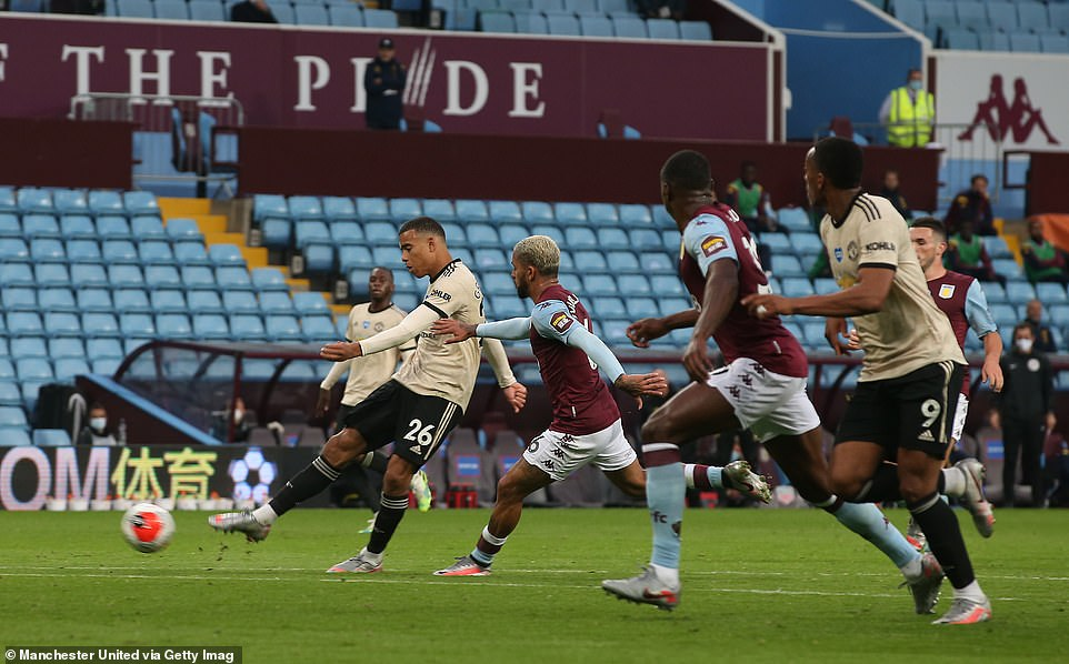 aston villa vs man united result mu brushed aside rival 3 0 controversial penalty