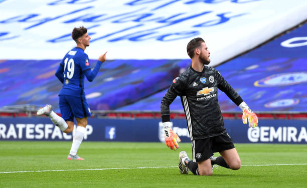fa cup result man utd 1 chelsea 3 david de gea error helps chelsea book fa cup final clash with arsenal