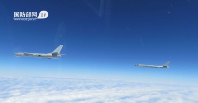China defiantly shows off new bomber in Bien Dong Sea (South China Sea) drills