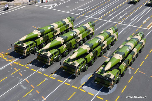 china brags nuclear tipped missiles sending warnings to us ships in south china sea