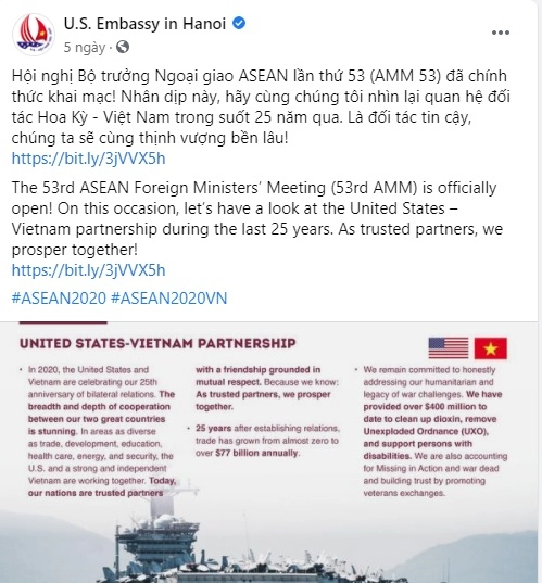 us embassy posted vietnams map featuring paracel and spratly islands