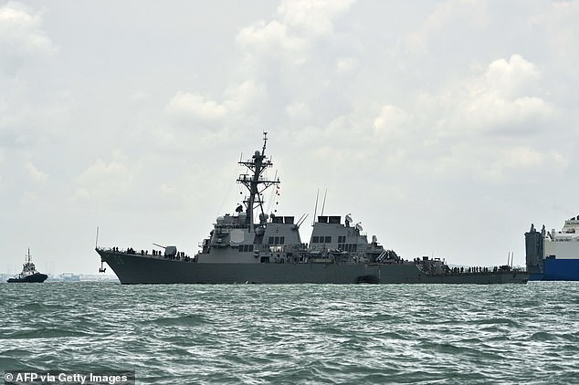 us destroyer sails near vietnams hoang sa islands beijing accuses it provocative actions