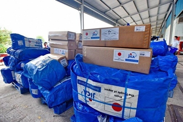 japan govt provides aid goods to vietnamese flood victims