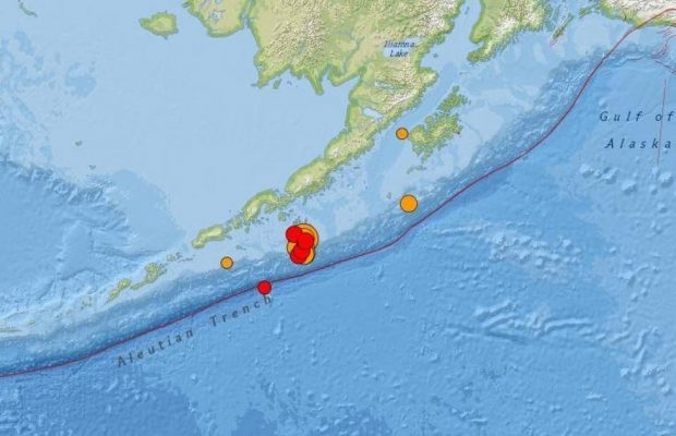 A reported 7.5 magnitude earthquake off the alaska peninsula on monday prompted tsunami warnings for a vast swath of communities.
