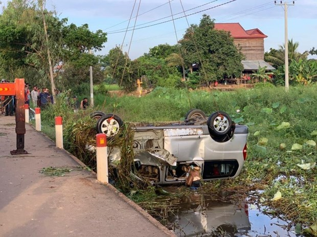 The traffic accident scene (Source: Fresh News)