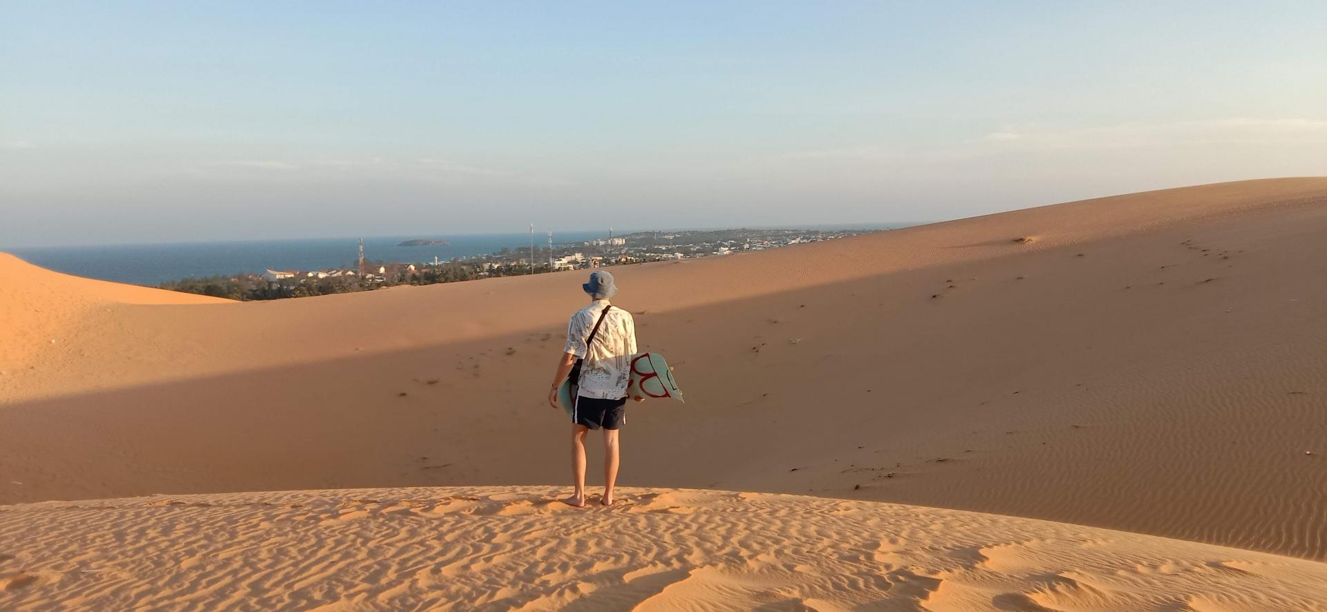 The Artistry Of Mui Ne's Dunes at Sunset