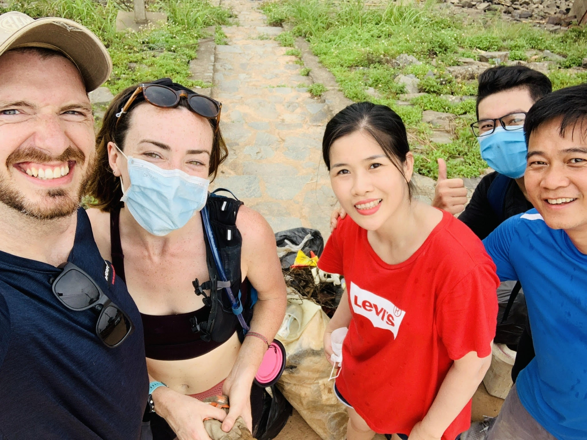 Before Leaving Vietnam, Expat Takes Out the Trash