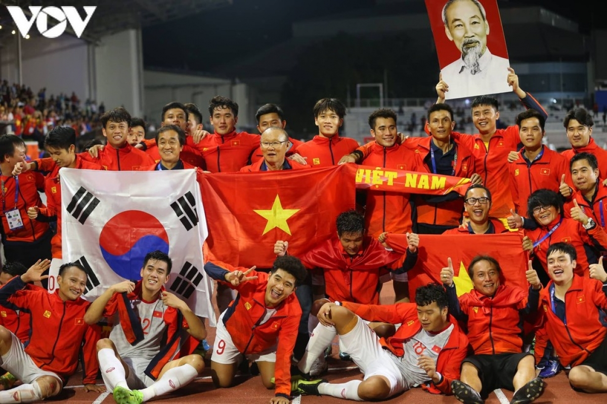 Vietnam's u22s win a gold medal at 30th sea games held in the philippines 2019. (photo: vov)