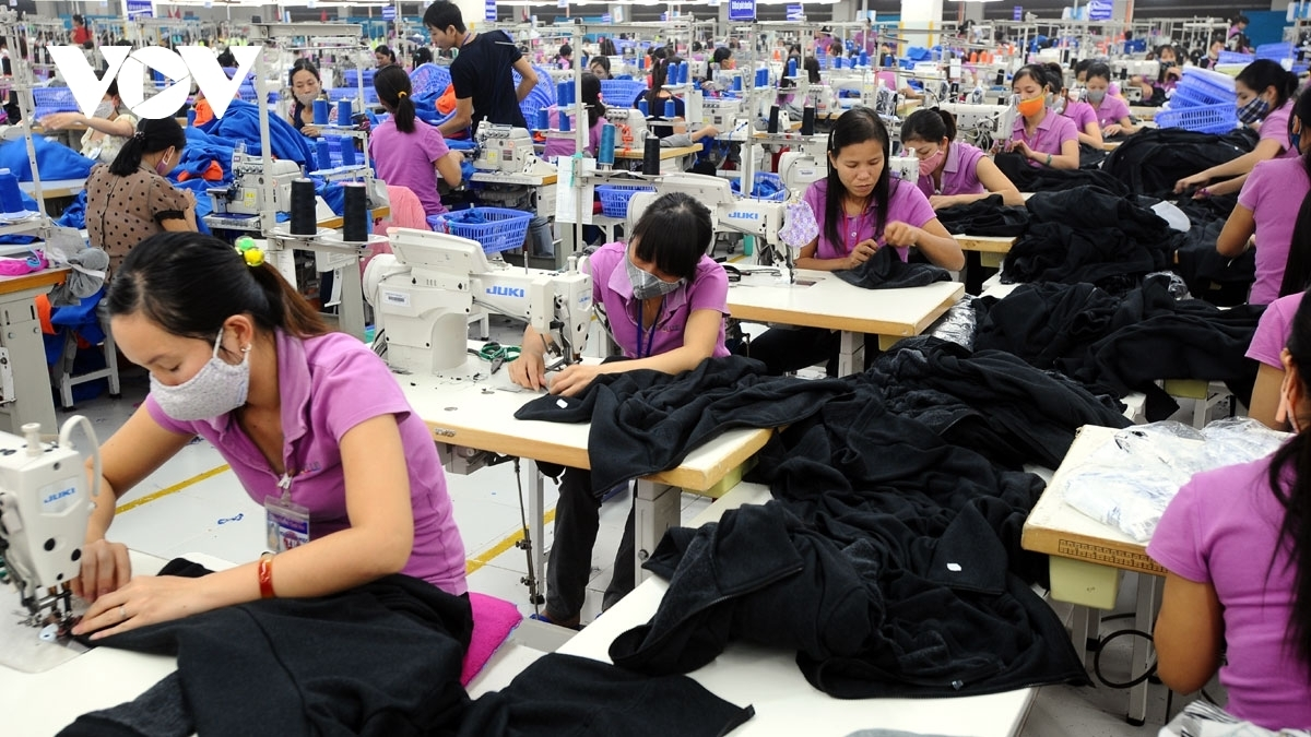 The uk primarily imports from apparel products vietnam (photo: vov)