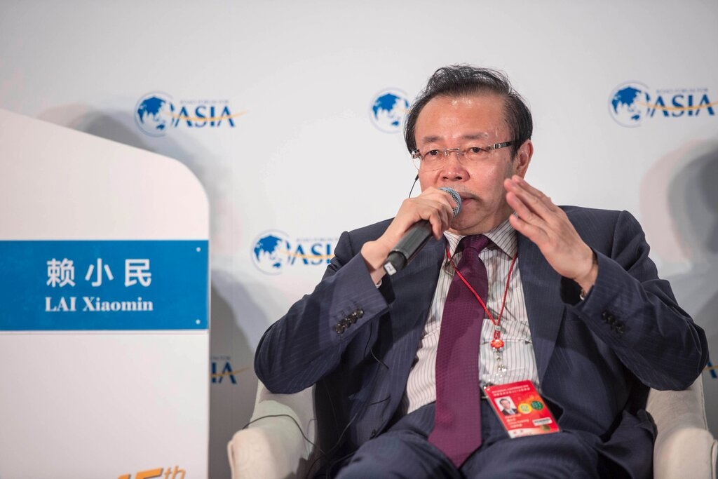 Lai Xiaomin in 2016, when he was chairman of the Chinese lender Huarong Asset Management.Credit...