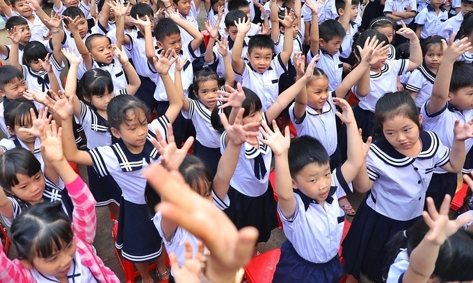 Students at a primary school in Ho Chi Minh City attend a back-to-school ceremony on September 5, 2019 (Photo: VNE)