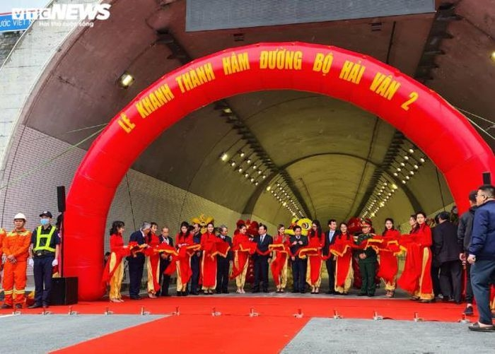 The inauguration ceremony of Hai Van Tunnel 2 (Photo: VG)