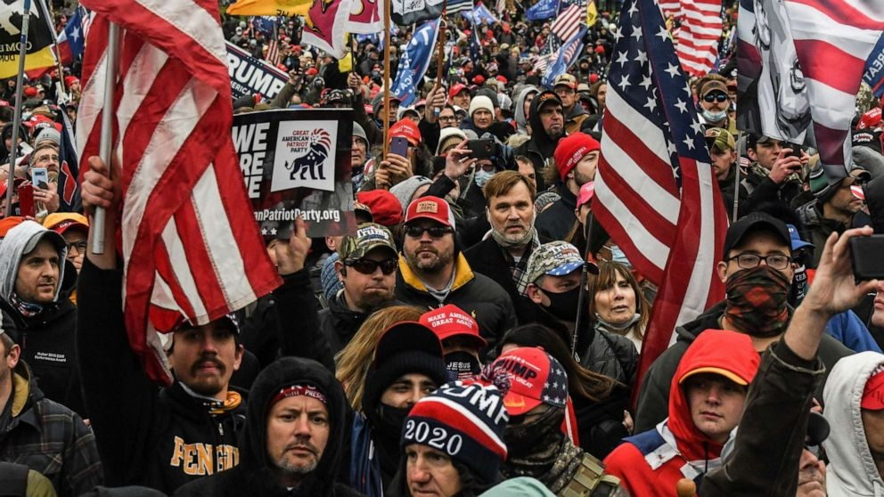 """Supporters of President Donald Trump participate in a """"Stop the Steal"""" protest outside of the Capitol building in Washington, D.C., Jan. 6, 2021. (Photo: Reuters)"""