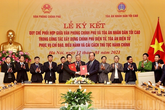 Regulation on coordination in building e-Government and e-court signed in video