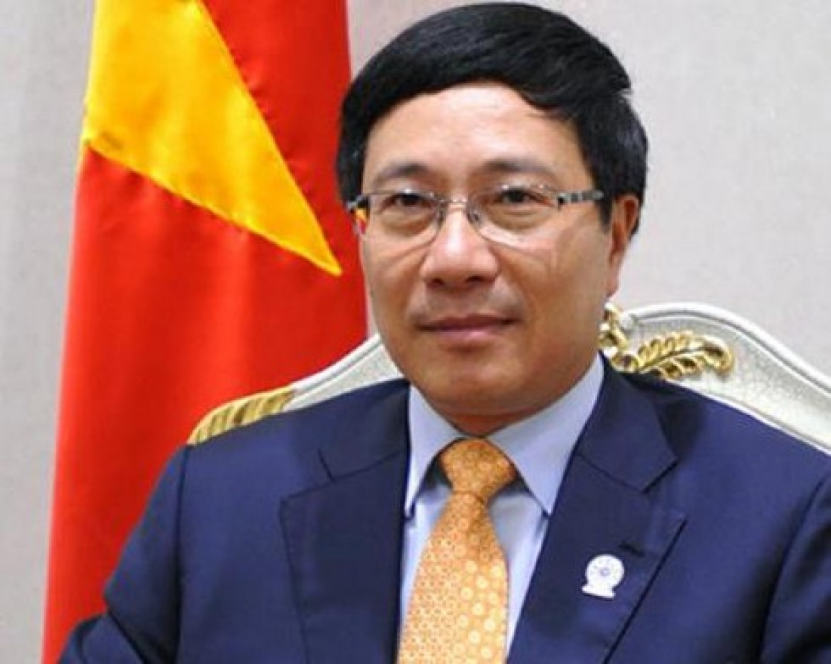 Deputy prime minister and foreign of vietnam pham binh minh (photo: vov)