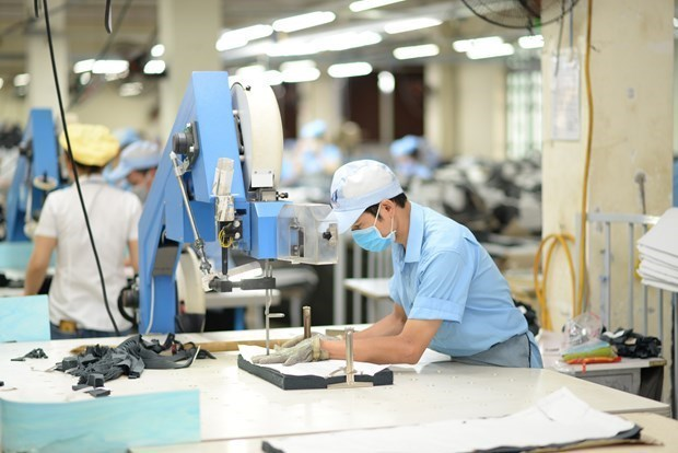 Manufacturing and processing sector played a key role in leading growth of the economy. Photo: VNA