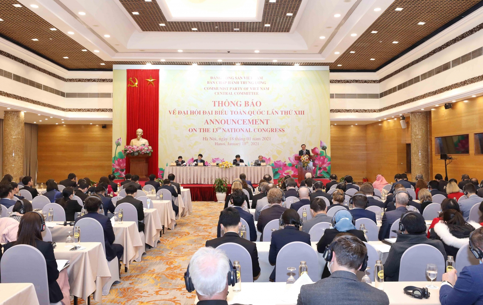 The diplomatic corps and representatives of international organizations in Viet Nam are invited to attend the opening and closing sessions of the 13th National Party Congress