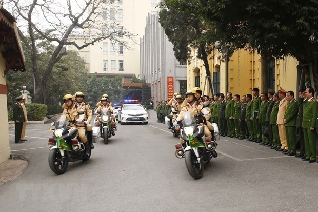 Hanoi's police begin the task of ensuring security for 13th national party congress (photo: vna)