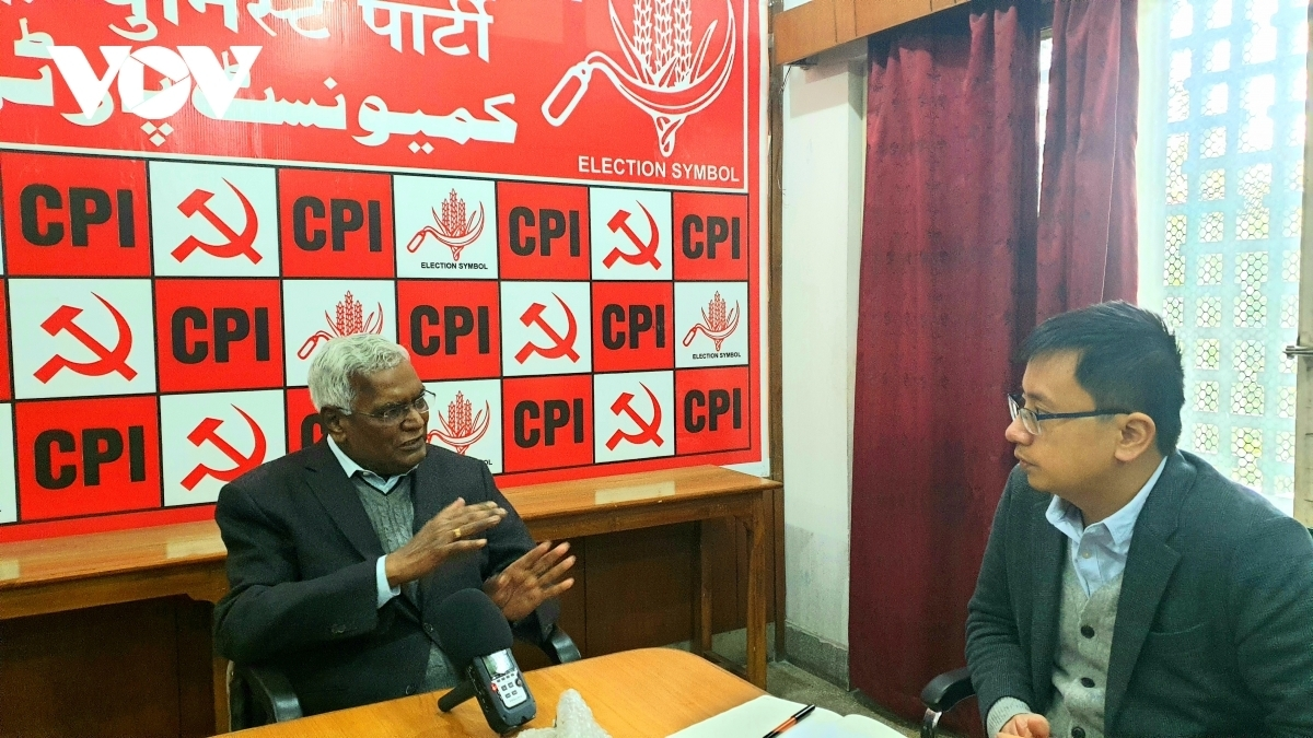 General Secretary of the Communist Party of India D. Raja.talks to Phan Tung, New Delhi-based VOV correspondent.