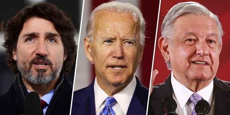 President Joe Biden spoke with the leaders of Canada and Mexico on Friday, his first calls with foreign counterparts since his inauguration this week.