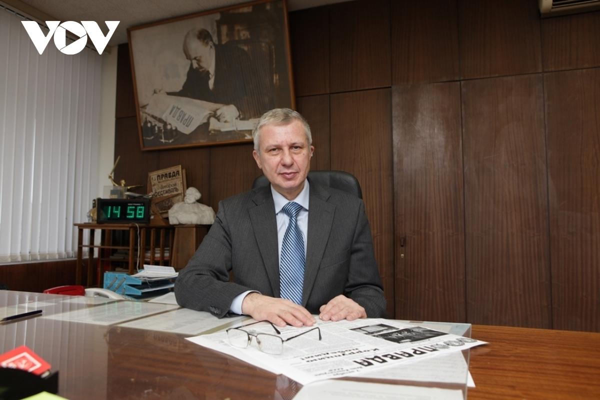 "Boris Komotsky, editor-in-chief of Russian newspaper ""The Truth"" (Pravda)"