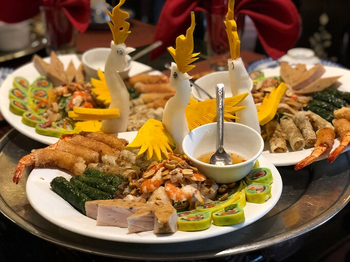 A New Year food tray of Central people must have at least 7 dishes (Photo: VNE)