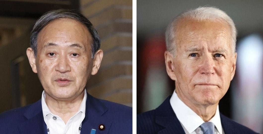 President Joe Biden reaffirmed the United States' commitment to defend Japan in his first phone call with Prime Minister Yoshihide Suga on Wednesday.