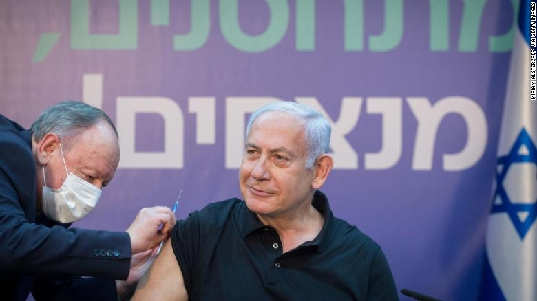 Netanyahu has made Israel's world-leading vaccination program the central message of his re-election campaign (Photo: CNN)