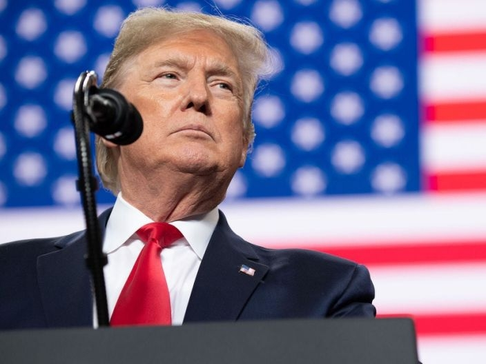 "Former president Donald Trump speaks during a ""Keep America Great"" campaign rally at Huntington Center in Toledo, Ohio, on January 9, 2020. (Photo: Getty Images)"