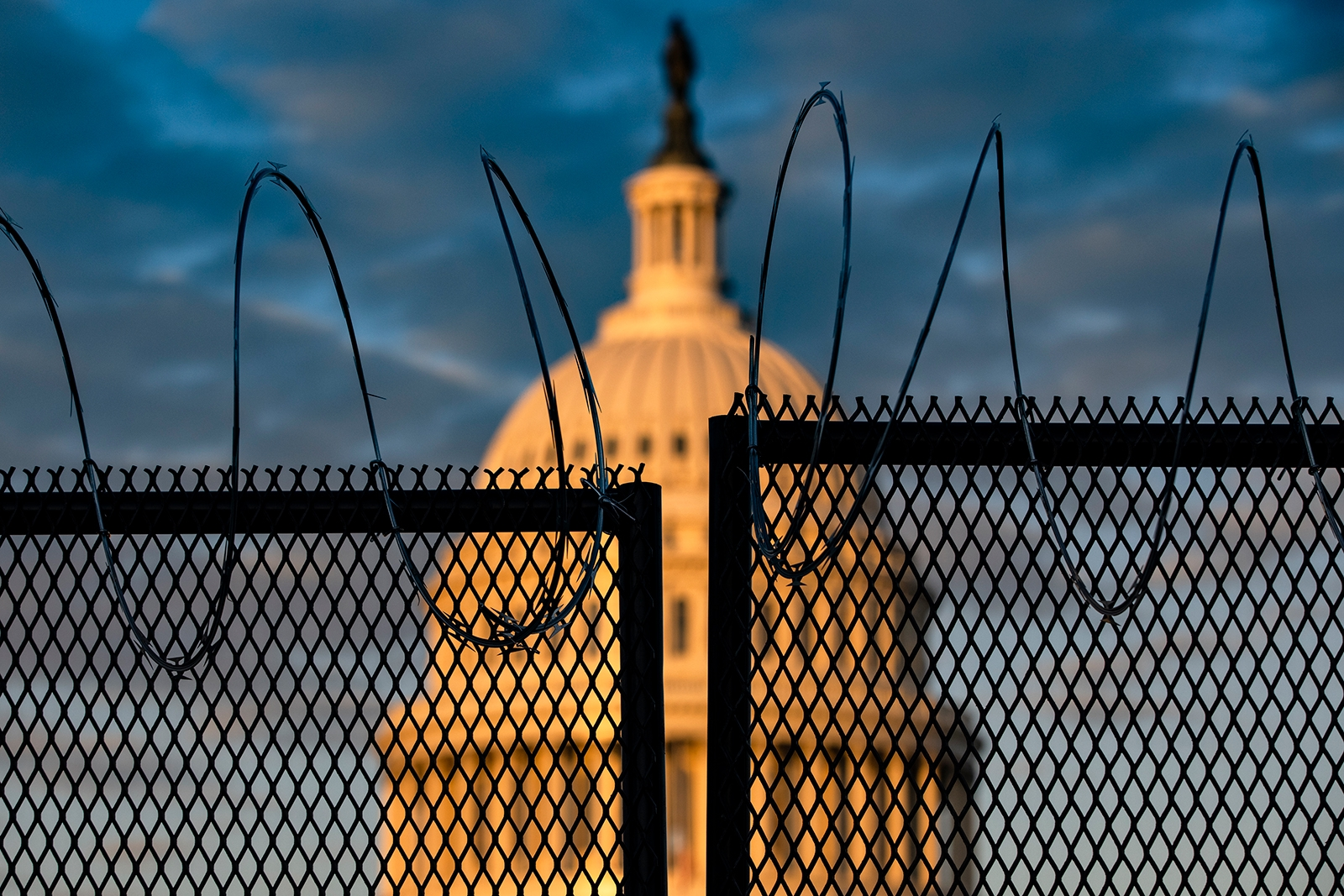 The proposal for permanent fencing comes weeks after a pro-Trump mob attacked the Capitol (Photo: CNN)