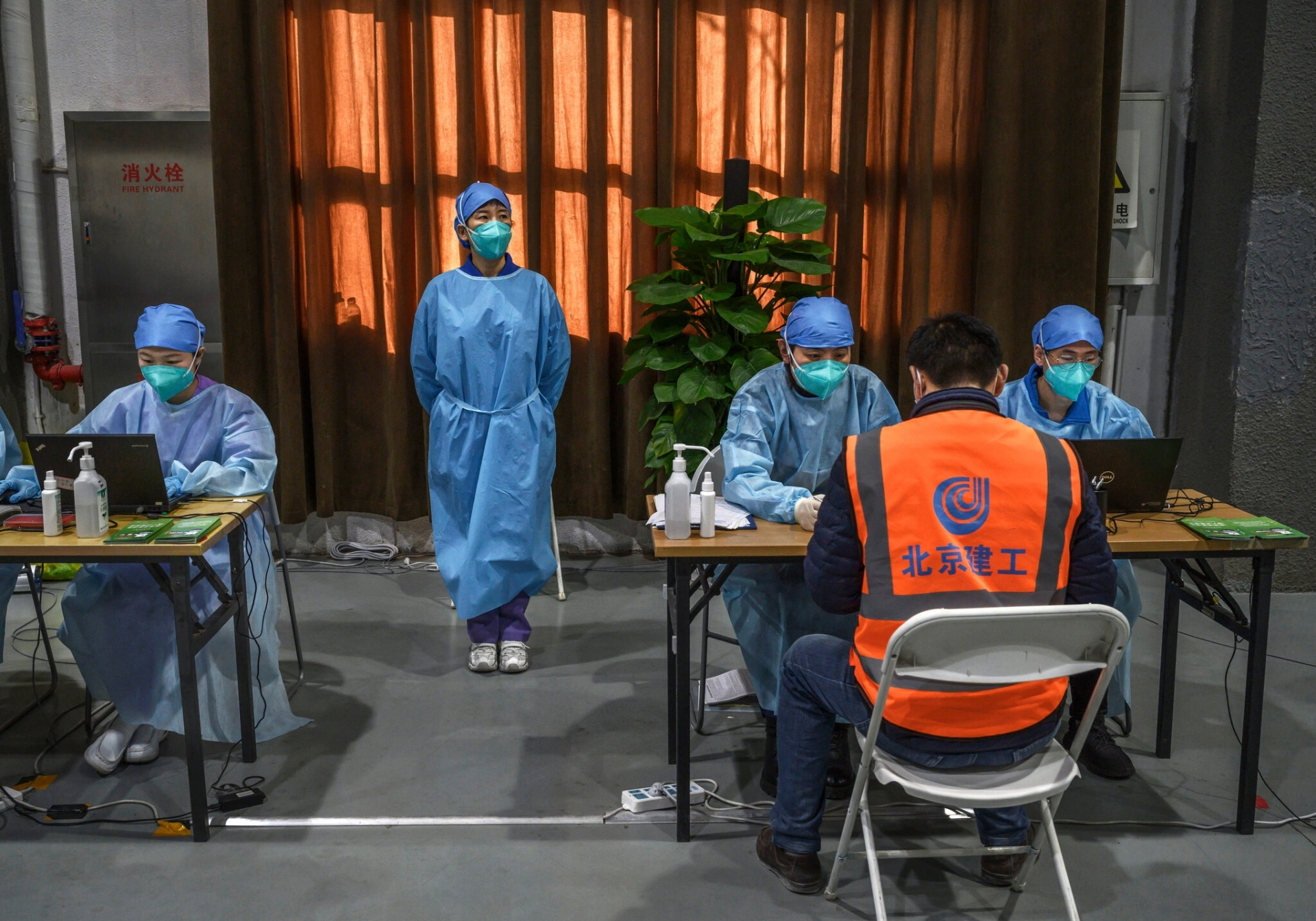 A vaccination center in Beijing last month (Photo: Getty Images)