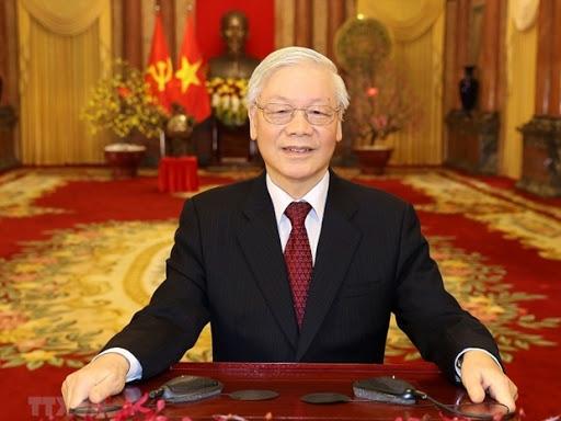 Party general secretary and state president nguyen phu trong (photo: bao ha giang)