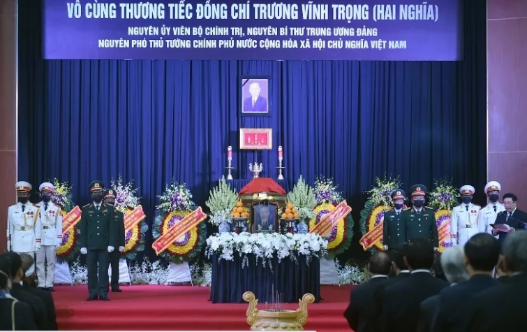 The memorial service for former Deputy PM Truong Vinh Trong in Ben Tre Province (Photo: VGP)
