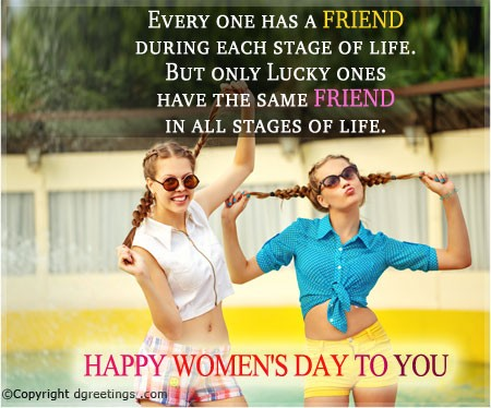 best wishes for the half of the world in international womens day