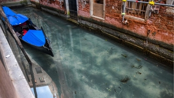 Italy's Venice turns crystal clear amid COVID-19 nationwide lockdown