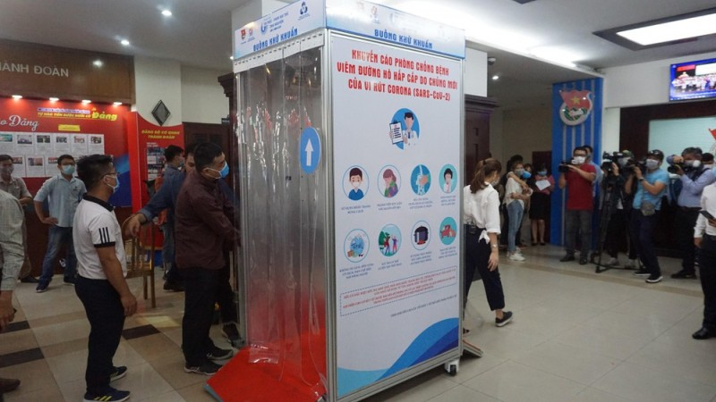 more covid mobile disinfection chambers launched in vietnam