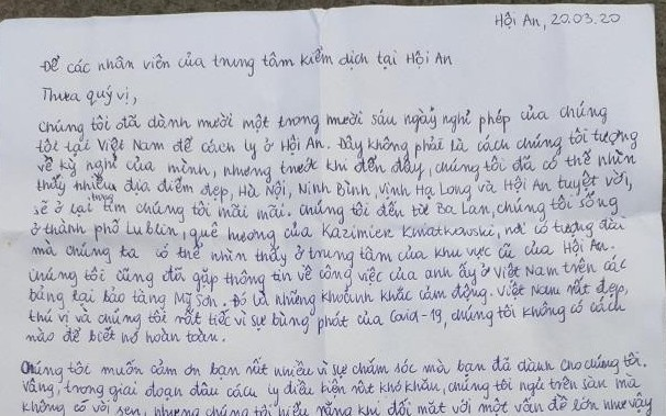 polish visitors use google translate to handwrite an emotional letter thanks to vietnam
