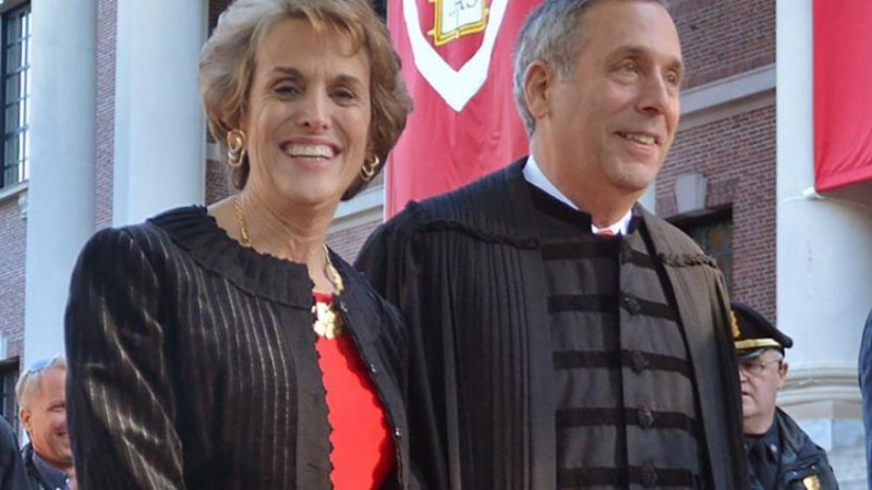 harvards president and his wife test positive for coronavirus
