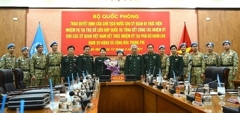 9 Vietnamese peacekeeping officers complete duties in Africa