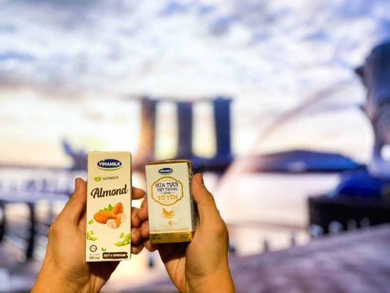 Vinamilk introduces its 'fresh milk with bird's nest' to Singapore market