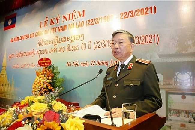 Ceremony marks 60th anniversary of Vietnam sending public security experts to Laos
