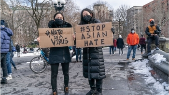 world breaking news today march 28 thousands protest violence against asian americans