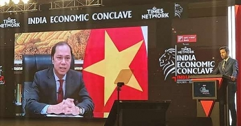 Deputy FM attends 2021 India Economic Conclave, with video