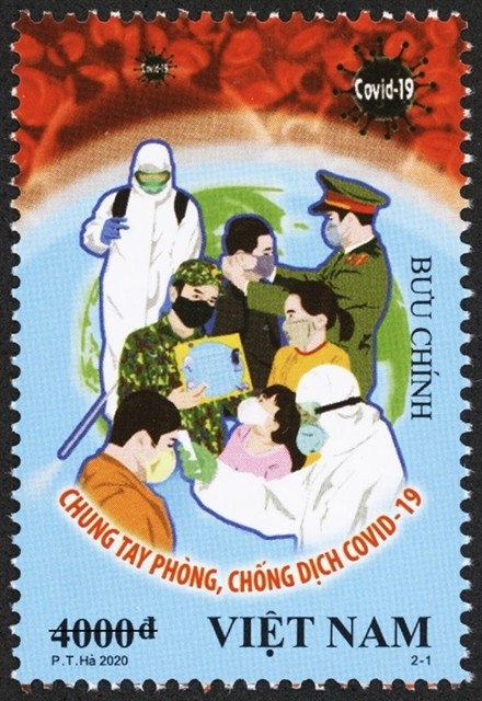 vietnam launches two covid 19 themed postage stamps
