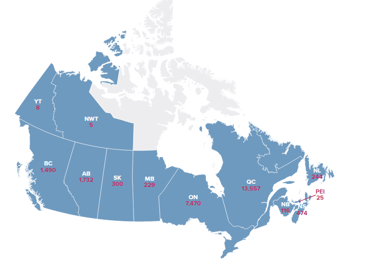 coronavirus live updates us total cases approaching 600000 while canadas stays at 25680