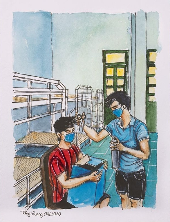 oversea students inspirational sketches of life under quarantine