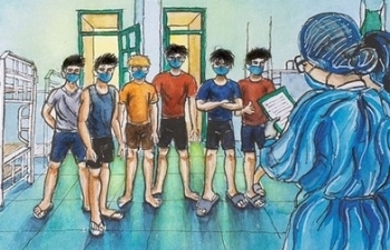 vietnamese returnee students inspirational sketches of quarantine life